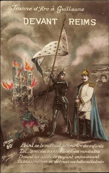 Artiste Carte postale Jeanne d'Arc à Guillaume,   akpool.fr